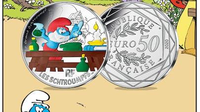 schtroumpfs monnaie de paris collection pièces       colorisées