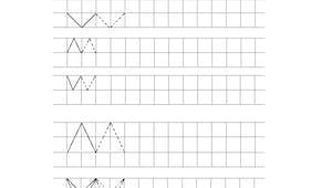 Les traits en diagonale - Exercice de tracé