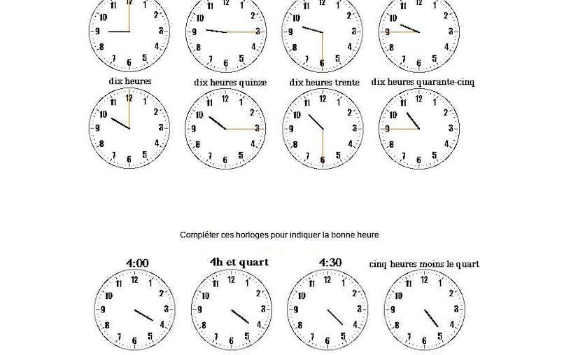 exercice : lire l'heure