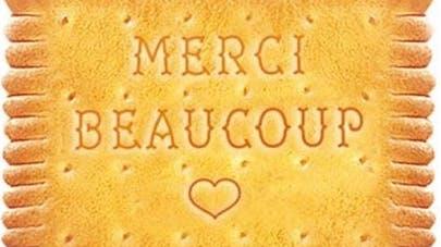 biscuit petit beurre lu hommage aux soigants merci       beaucoup