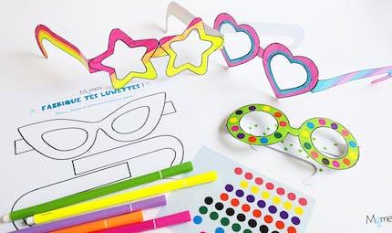 Lunettes à imprimer et à colorier