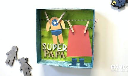 Magnet diorama Super Papa