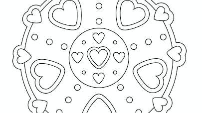 coloriage mandala coeur
