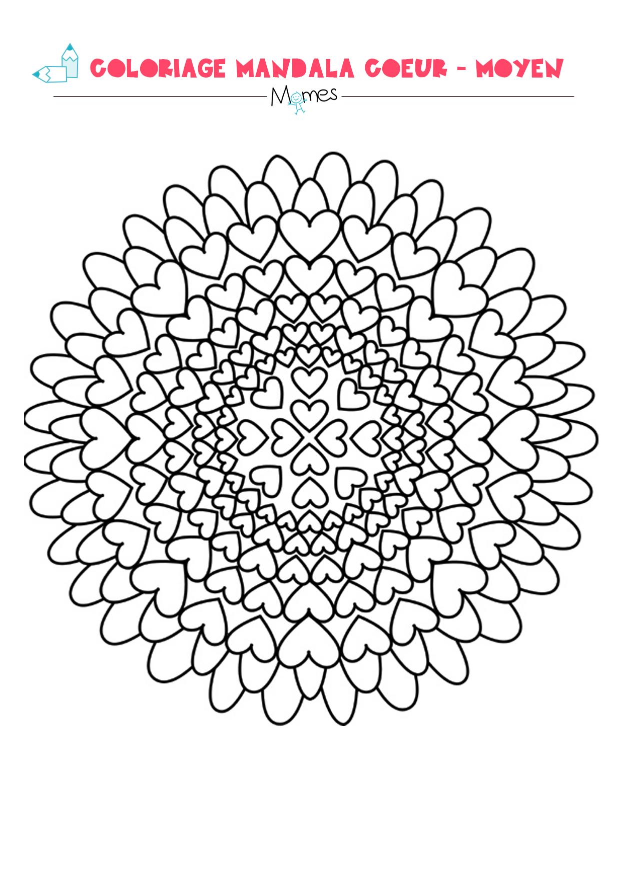 Mandala Coeur A Colorier Facile Momes Net