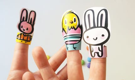 Marionnettes à doigts à imprimer pour Pâques