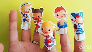 Marionnettes à doigts de l'été