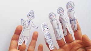 Marionnettes à doigts : la maîtresse d'école
