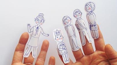 marionnettes à doigts à imprimer