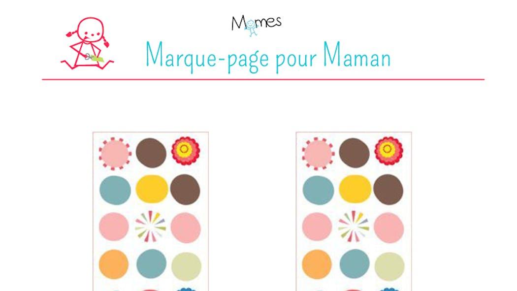 Marque-pages pour la fête des mères 2