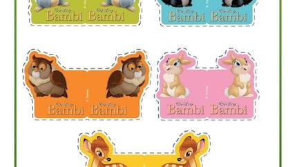 Marque paille Bambi
