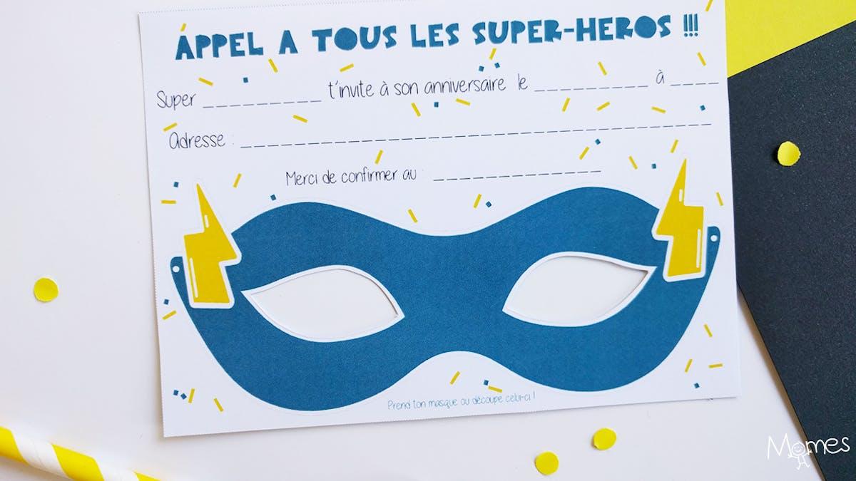 carte anniversaire super heros à imprimer