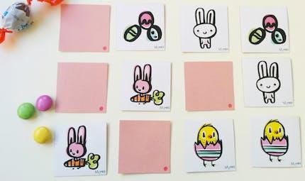 Memory de Pâques à imprimer