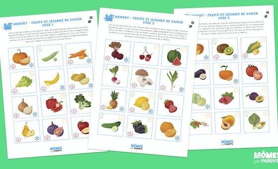 Memory des fruits et légumes de saison