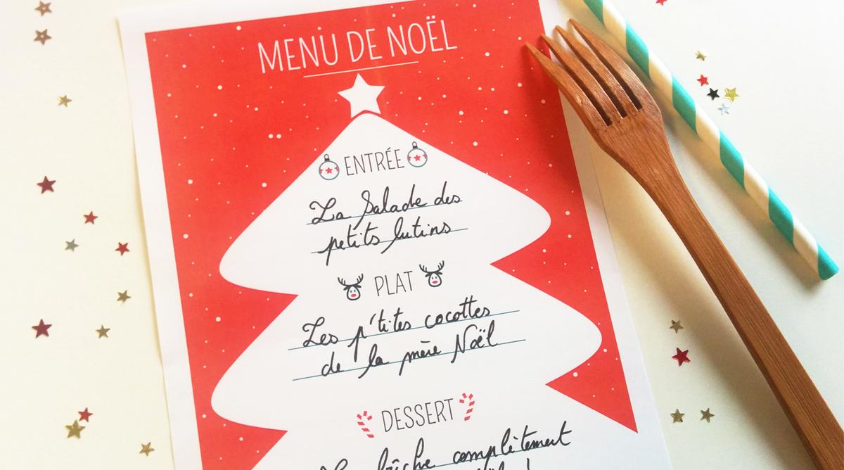 Menu De Noel A Imprimer Sapin Rouge Et Blanc Momes Net