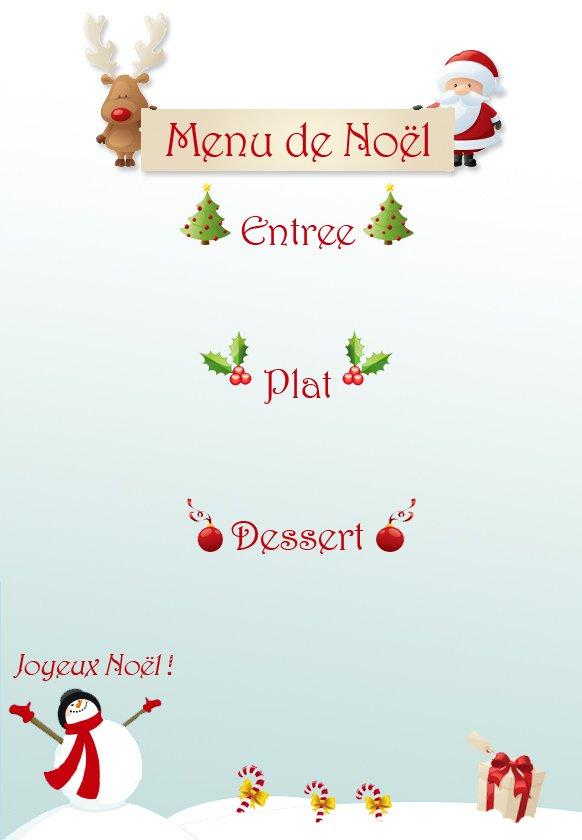 Menu de Noël à imprimer | MOMES.net