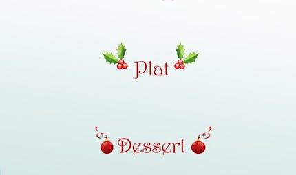 Menu de Noël à imprimer