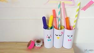 Mes premiers pots à crayons