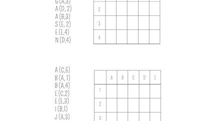 Message à décoder dans une grille : exercice