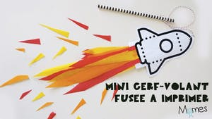 Mini cerf-volant fusée à imprimer