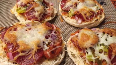 Mini pizza extra-fromage