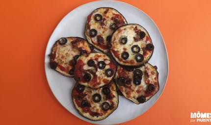 Mini pizza aubergine