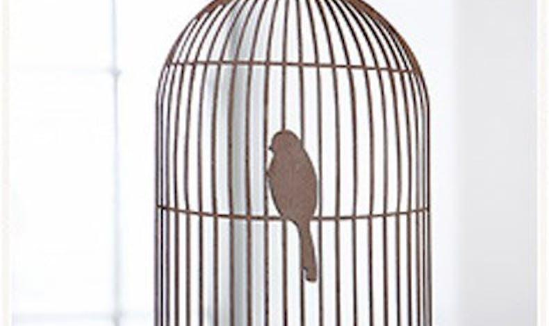 Mobile oiseau en cage