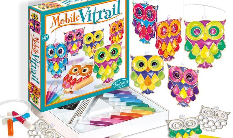 meilleurs cadeaux Noël 2019 enfants Mobile vitrail         Hiboux