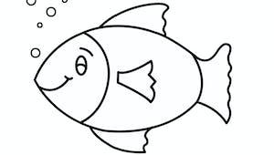 Modèle de poisson à imprimer - Dessiner les écailles