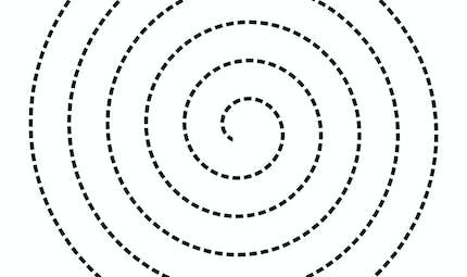 Modèle de spirale en pointillés