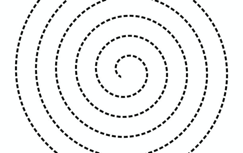 modele spirale pointillés