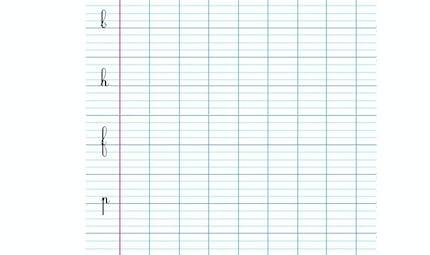 Modèle écriture cursives l, b, h , f, p