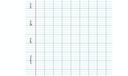 Modèle écriture cursives l, b, h, k, f