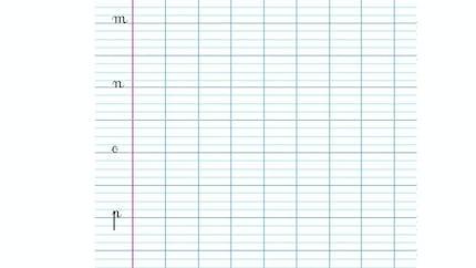 Modèle écriture cursives l, m, n, o, p