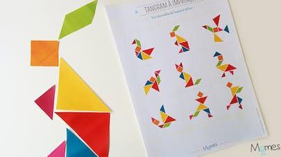 modele de tangram