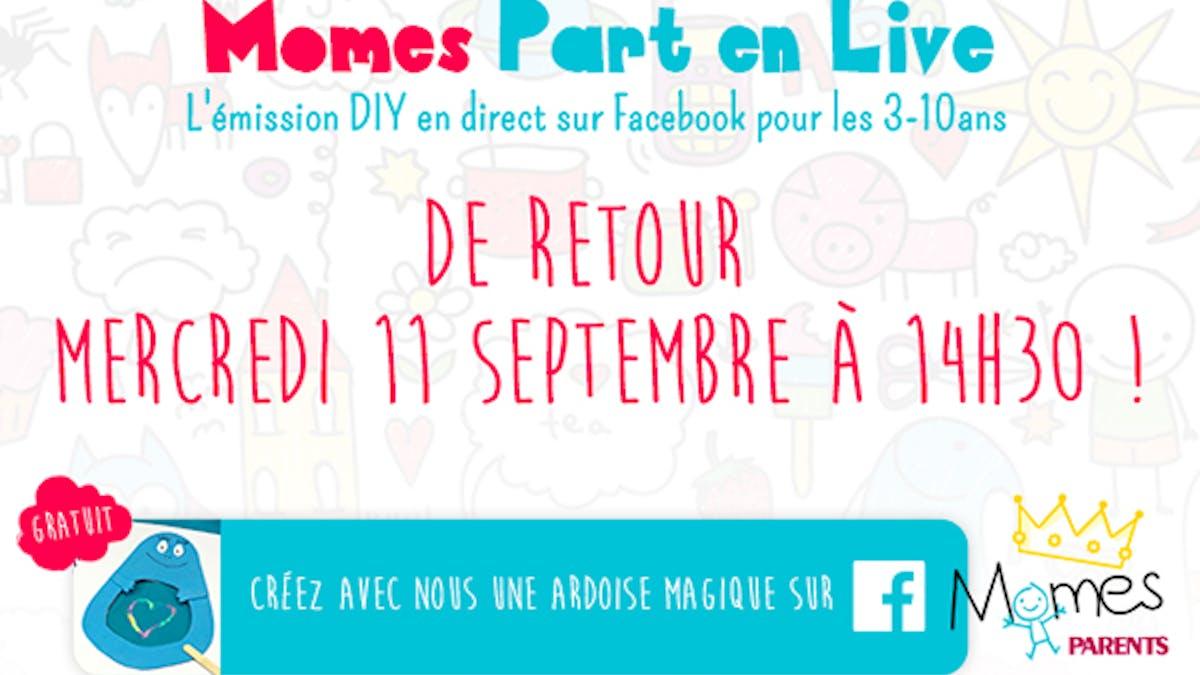 momes part en live émission facebook direct mercredi diy       bricolages recettes