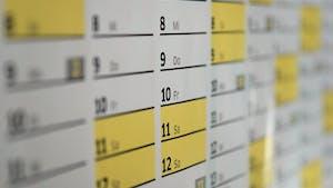 Mon calendrier, un poème sur le temps qui passe