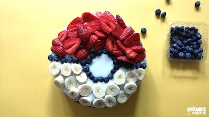 Gâteau Pokémon aux fruits et sans gluten