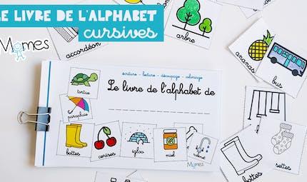 Mon livre d'alphabet en lettres cursives