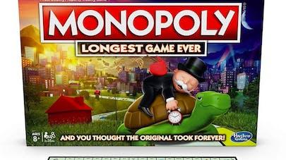 monopoly version longue double plateau longest game ever       hasbro