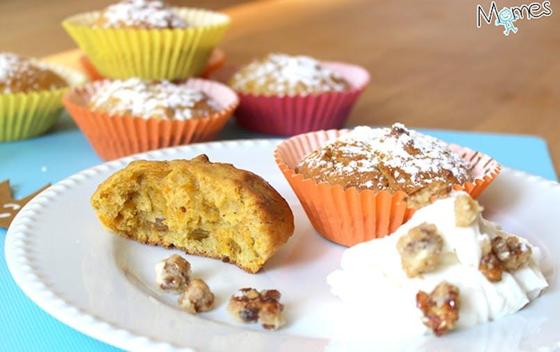 Muffins sucrés au potimarron et épices