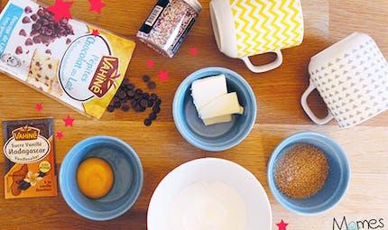 Mug Cookie aux pépites de chocolat au lait