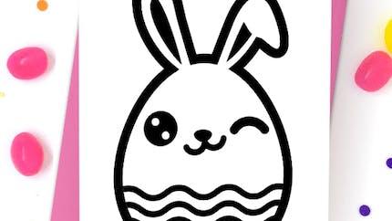 Oeuf lapin de Pâques