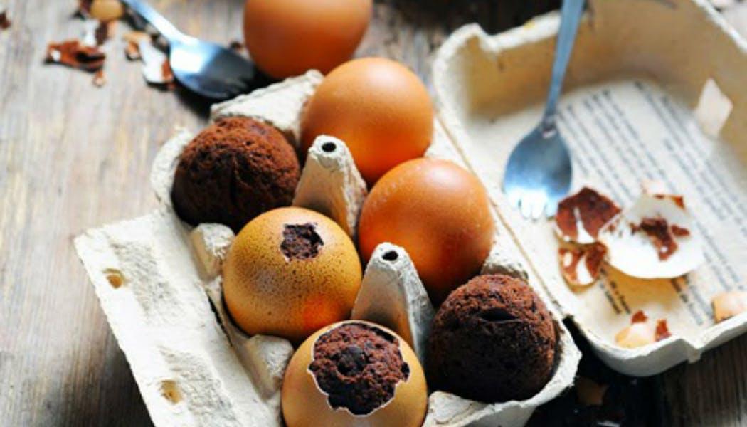 Œufs à la coque cacao à la mousse au       mascarpone
