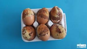 Gâteau : marbrés dans coquilles d'œufs