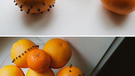 Orange piquée de clous de girofle