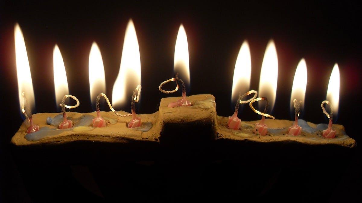 Hanouccah bougies