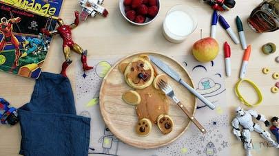 pancakes USA petit-déjeuner goûter momes Marvel