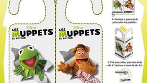 Pancarte de Porte Les Muppets: bienvenue