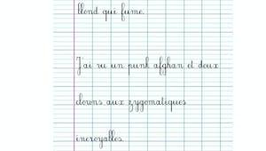 Pangrammes - exercice de modèle d'écriture