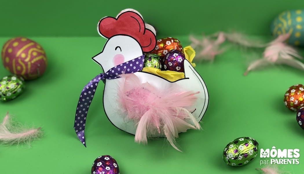 Panier poule pour Pâques